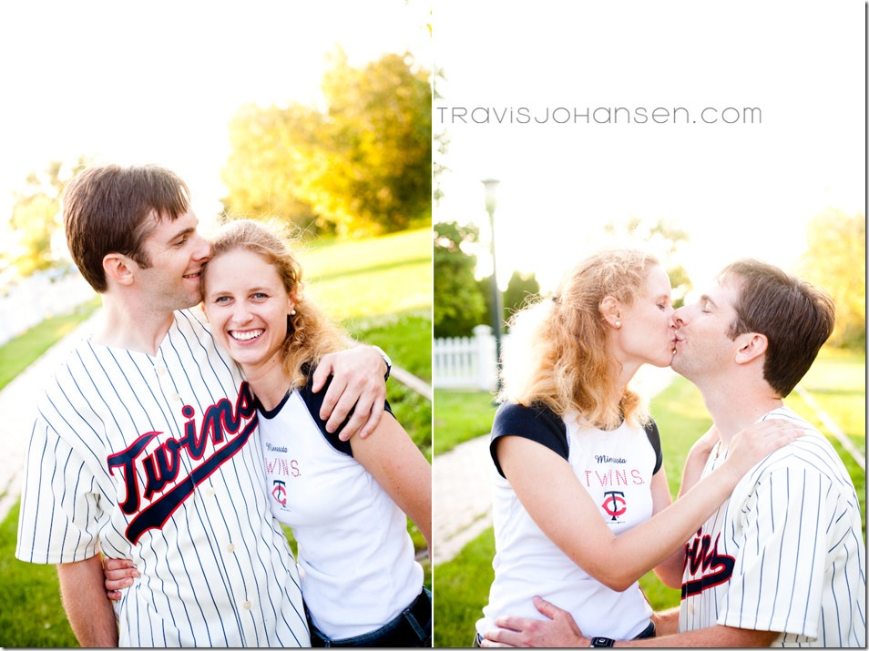 Minneapolis wedding photographer shoots engagement session at Minnehaha Creek in Minneapolis.