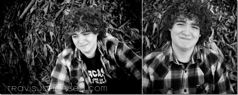 black and white senior photos with hay as background