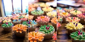 hand made colorful cupcakes
